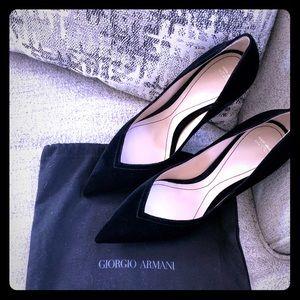 NWT Giorgio Armani velvet pumps💠